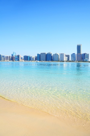 Beach in Abu Dhabi, UAE photo