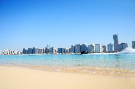 Beach and water sport in Abu Dhabi,UAE  photo