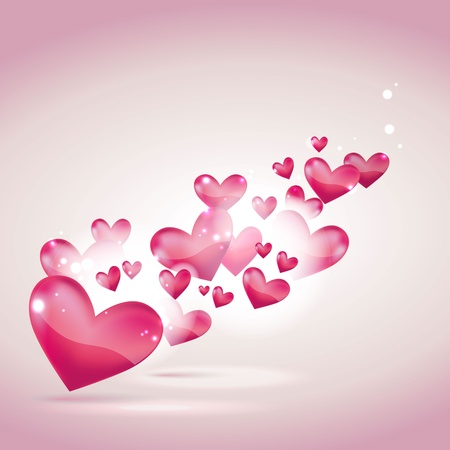 Valentines day or wedding card and background Vector
