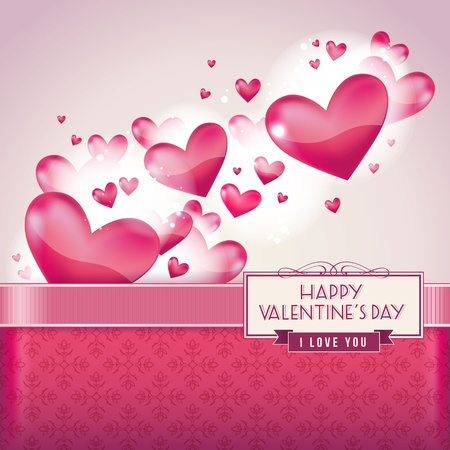 Hearts for Valentines day card Vector