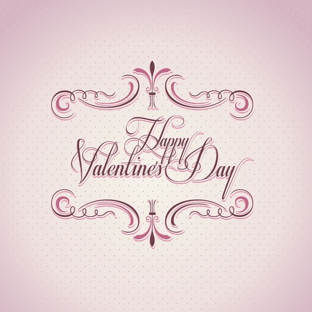 Valentines day vintage background and greeting card