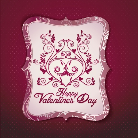 Valentines day vintage background and greeting card Vector