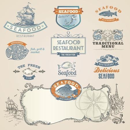owoce morza: Owoce morza i elementy etykiety