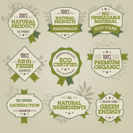 Set of natural labels Vector