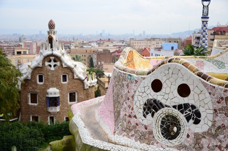 Park Guell in Barcelona photo