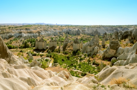 rock formations: The Valley Of Love in Cappadocia, Turkey Stock Photo