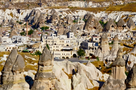 Goreme town in Cappadocia, Turkey photo
