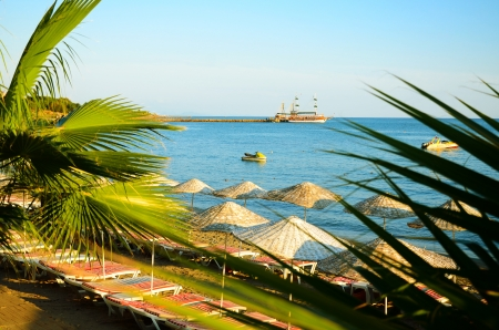 turkey beach: Alanya beach, Turkey Stock Photo