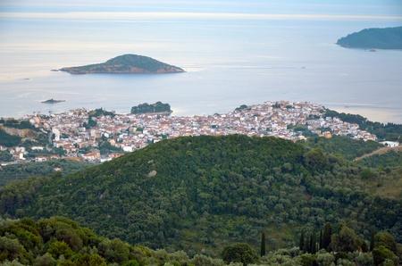 Panoramic views of the island of Skiathos