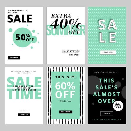 Set of website and emails for sale. illustrations for website and mobile website  posters, email and newsletter designs, ads, promotional material. Illustration