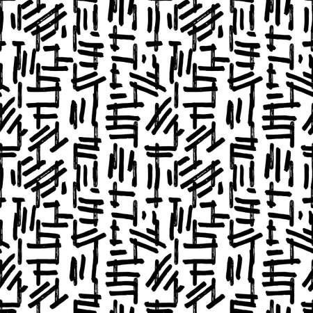 Vector abstract textured irregular paint stroke brush pattern. Modern grunge design. Vivid, hand drawn, in motion, modern brush design on white background. Surface pattern design. 矢量图像