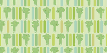 Modern Celery Stalk Seamless Vector Repeat Background. Botany Geometric Vegetable Design. Fresh All Over Repeat. Food, Kitchen, Kitchen Wear, Apron, Cooking, Health.