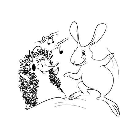 Dancing Animals Illustration