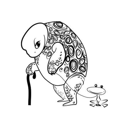 Old Turtle Illustration