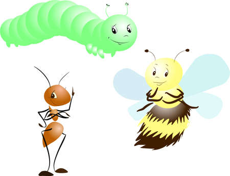 apiculture: Ant, Bee and Caterpillar
