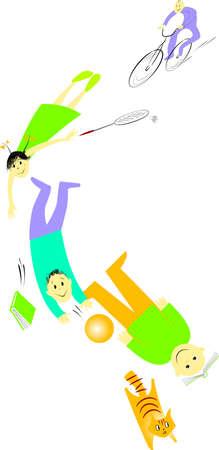 leapfrog: Escuela de descanso - color Vectores