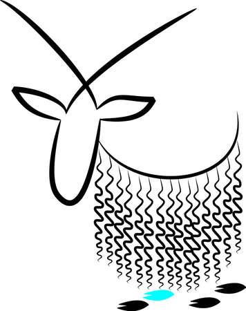 Capricorn Illustration