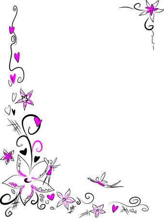 Rosa Bl�ten Illustration