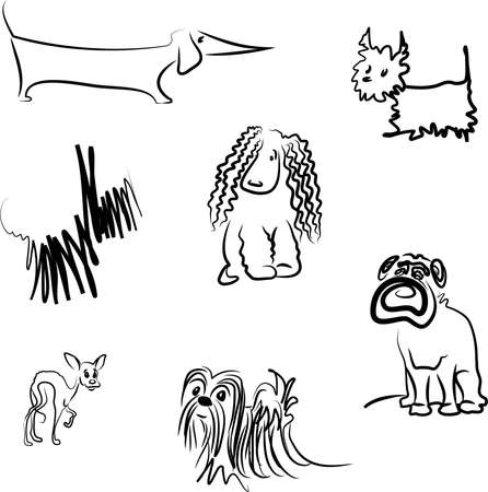 Set of dog breeds