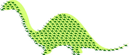 dinosaurus: Dinos silhouette Illustration