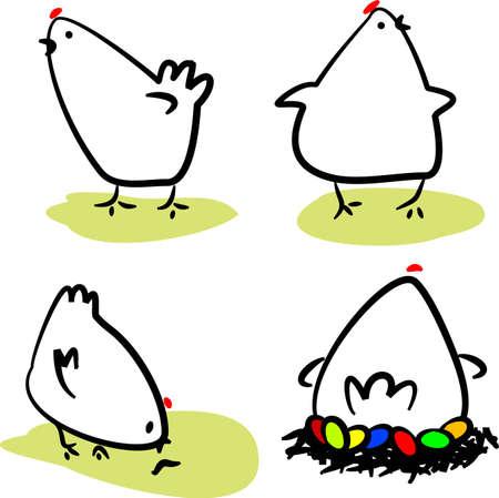 nest egg: Hens