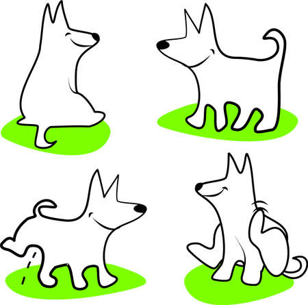 pee: Funky dog Illustration
