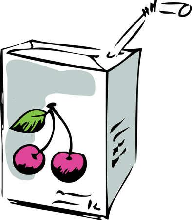 food container: Jugo de cereza  Vectores