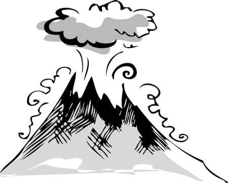 erupting volcano: Volcano