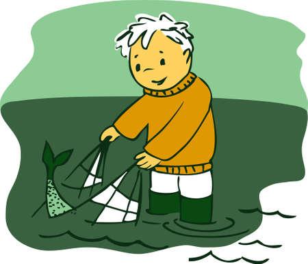fishnet: Fisherman
