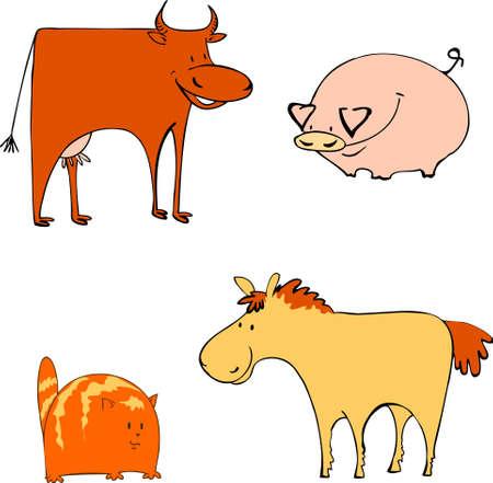 Farm animals Stock Vector - 8583191
