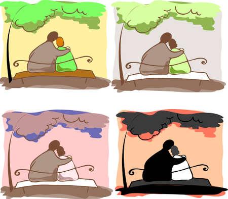 Pelz-Paare Illustration