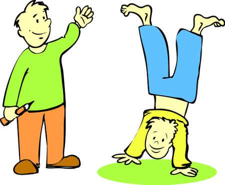 Two boys Ilustração