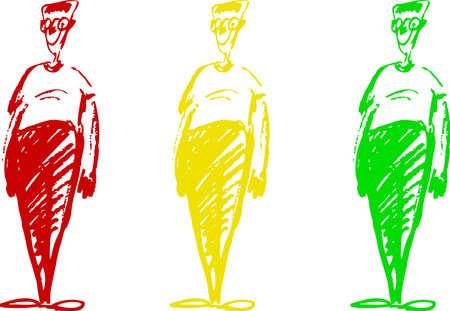 three men: Three men Illustration