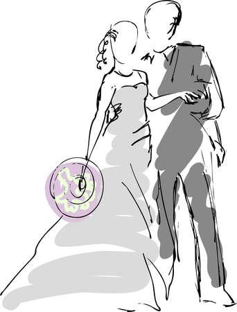 Hochzeitspaar Illustration