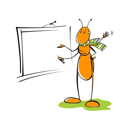ant teacher Illustration