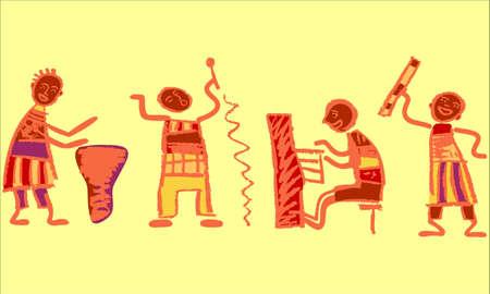 uganda: Music band Illustration