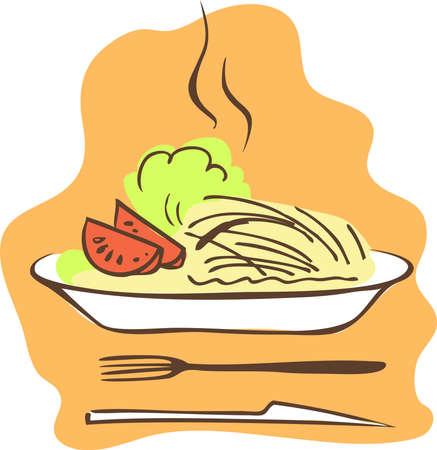 plato pasta: Alimento