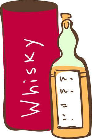 whiskey bottle: Whiskey
