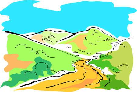 calamiteit: Landschap Stock Illustratie