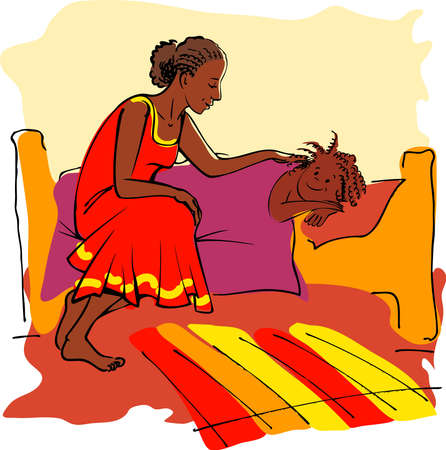 africa kiss: Tucking bed