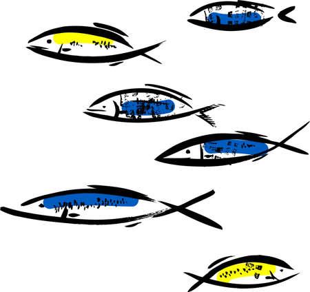 shoal: Fish Illustration