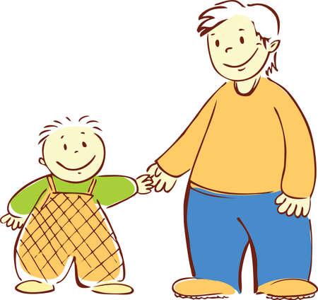nanny: Granny Illustration