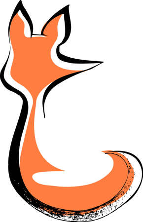 Lonely fox Illustration
