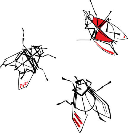 Flies, abstract Stock Vector - 15493858