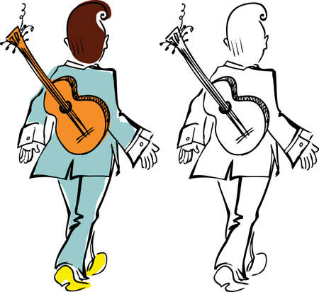 wrist cuffs: Elvis with a guitar