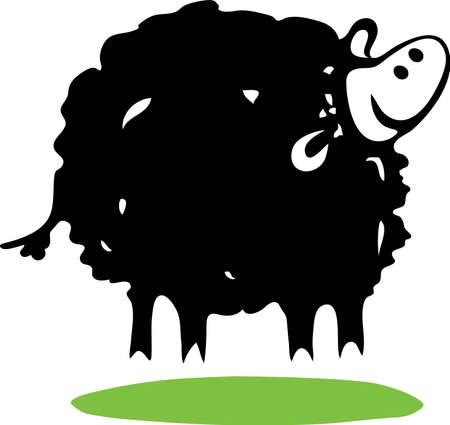 Black sheep Stock Vector - 15312384