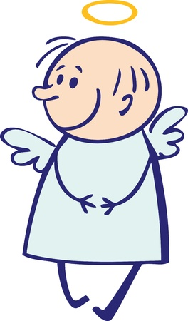 interested: Small shy angel Illustration