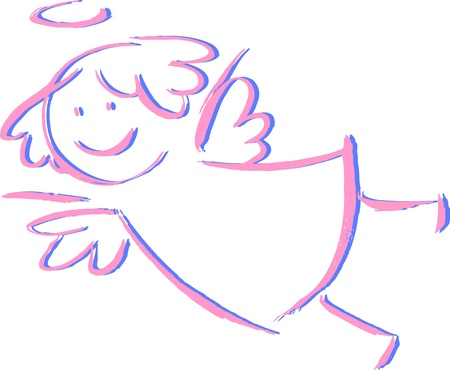 twin sister: Angel-unisex Illustration