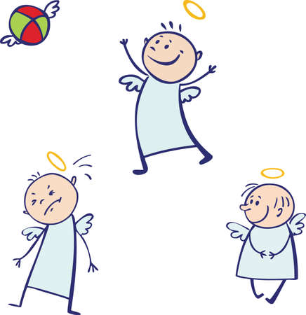Baby angel set Vector