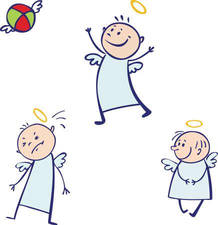 angry angel: Baby angel set